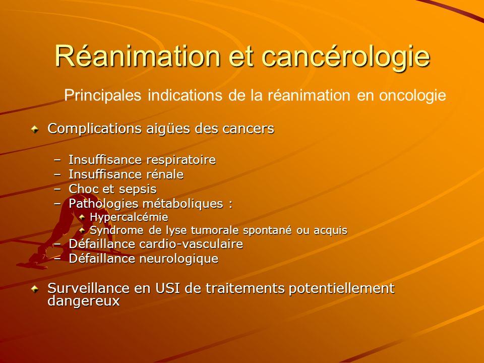 Réanimation et cancérologie