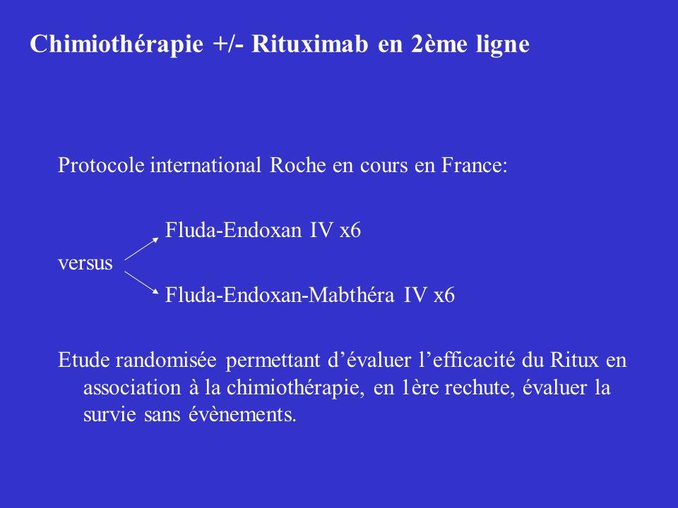 Chimiothérapie +/- Rituximab en 2ème ligne