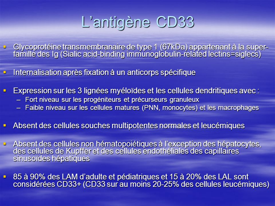 L'antigène CD33