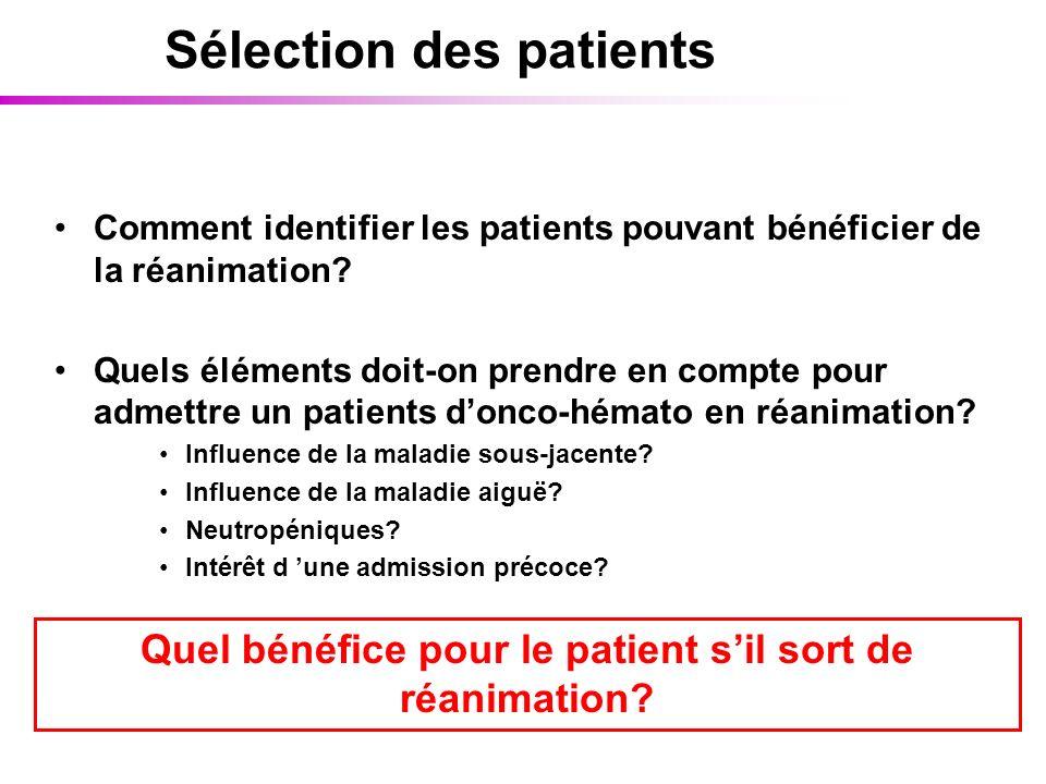 Sélection des patients