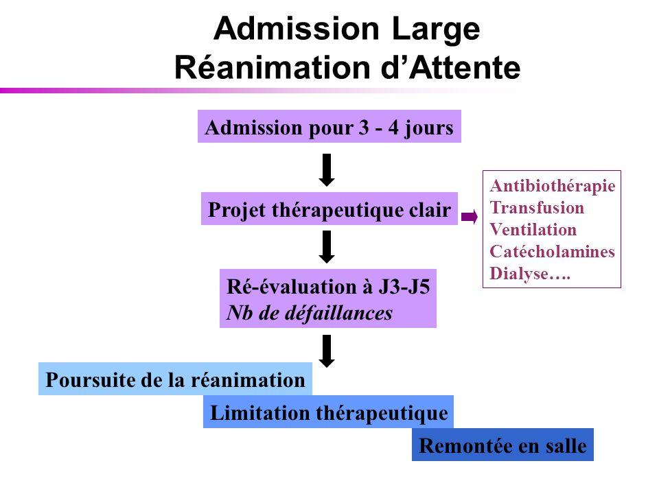 Admission Large Réanimation d'Attente