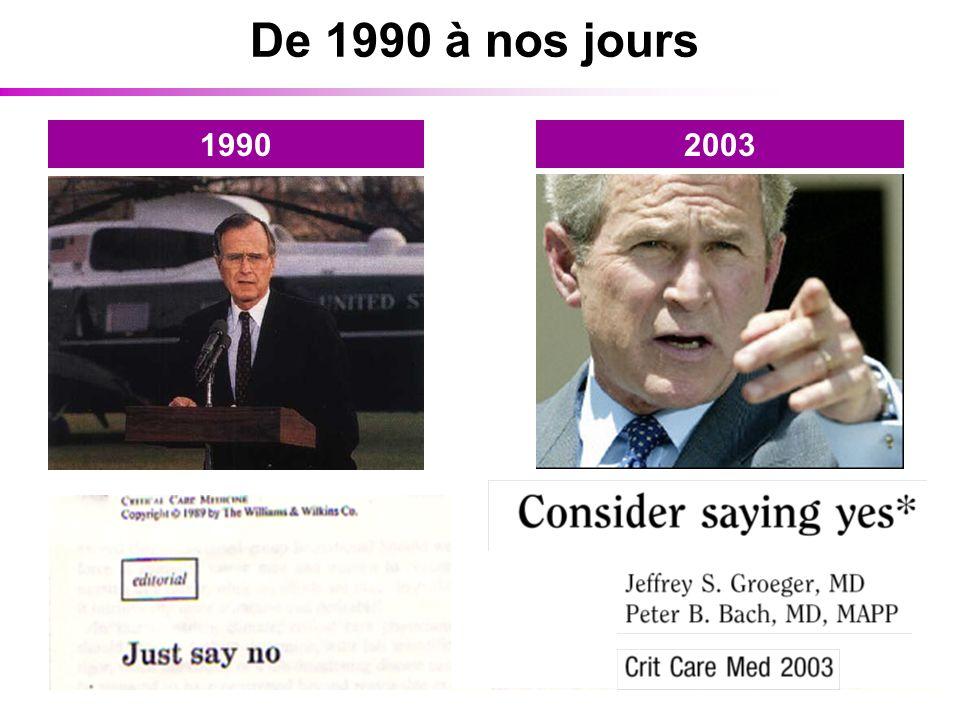 De 1990 à nos jours 1990 2003