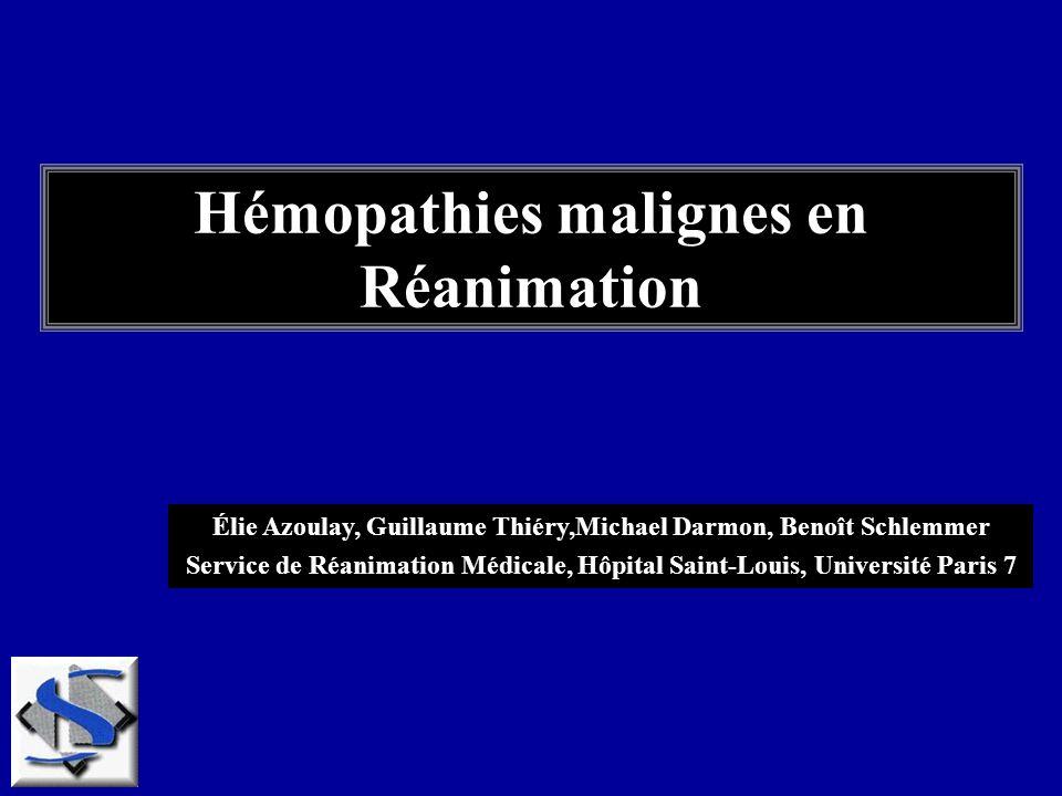 Hémopathies malignes en Réanimation
