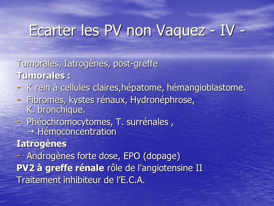 Ecarter les PV non Vaquez - IV -