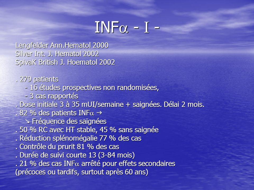INF - I - Lengfelder Ann.Hematol 2000 Silver Int. J. Hematol 2002