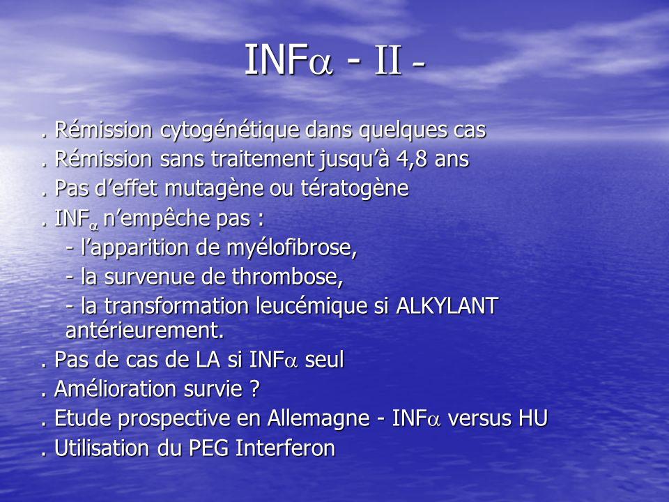INF - II - . Rémission cytogénétique dans quelques cas