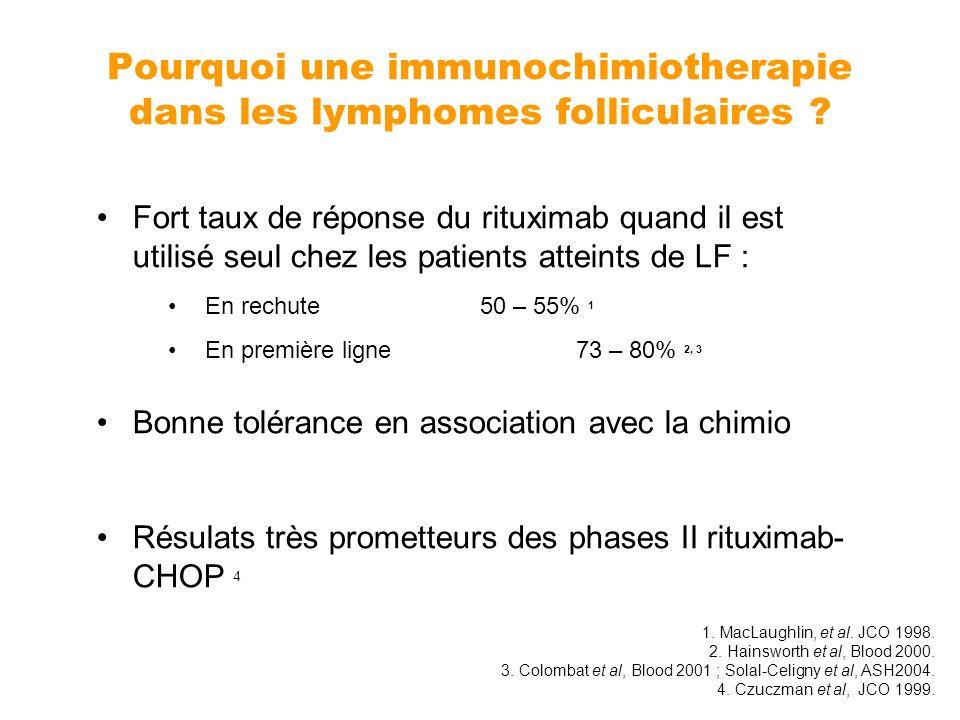 Pourquoi une immunochimiotherapie dans les lymphomes folliculaires