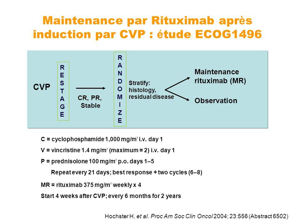 Maintenance par Rituximab après induction par CVP : étude ECOG1496