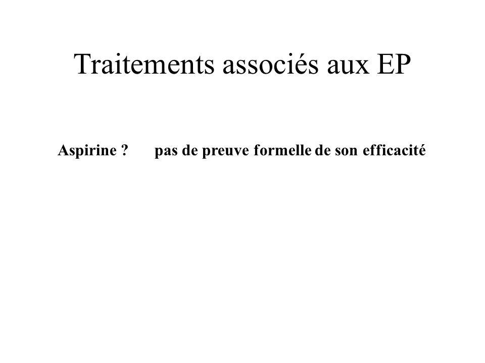Traitements associés aux EP