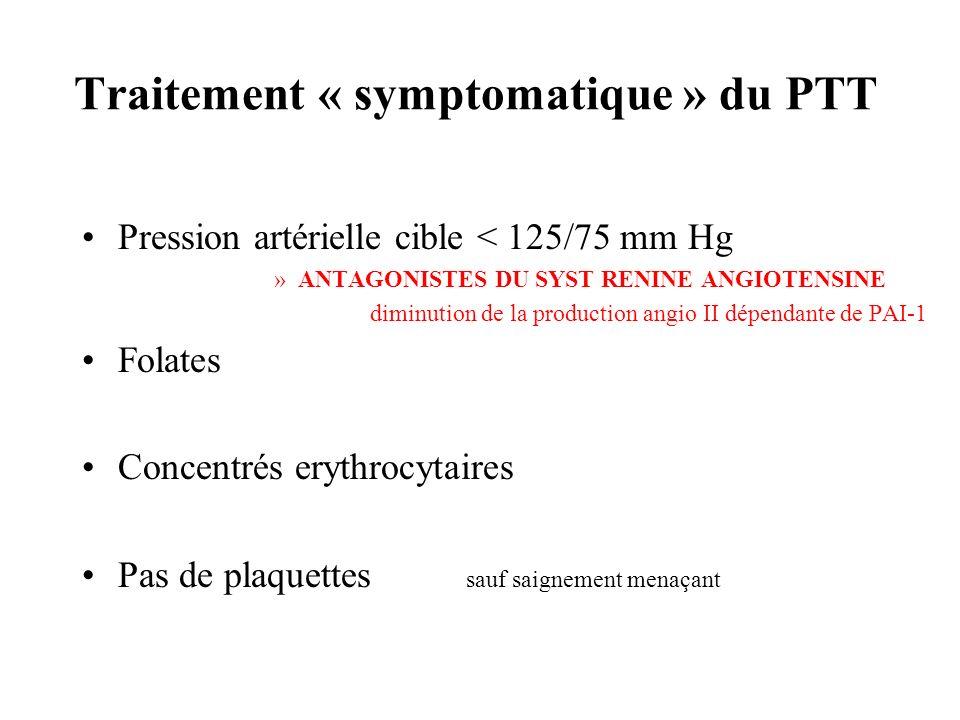 Traitement « symptomatique » du PTT