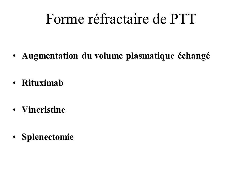 Forme réfractaire de PTT