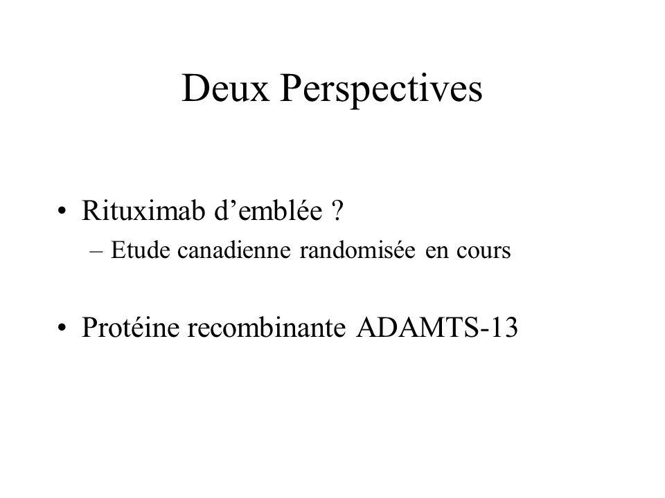 Deux Perspectives Rituximab d'emblée Protéine recombinante ADAMTS-13