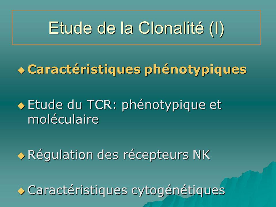 Etude de la Clonalité (I)