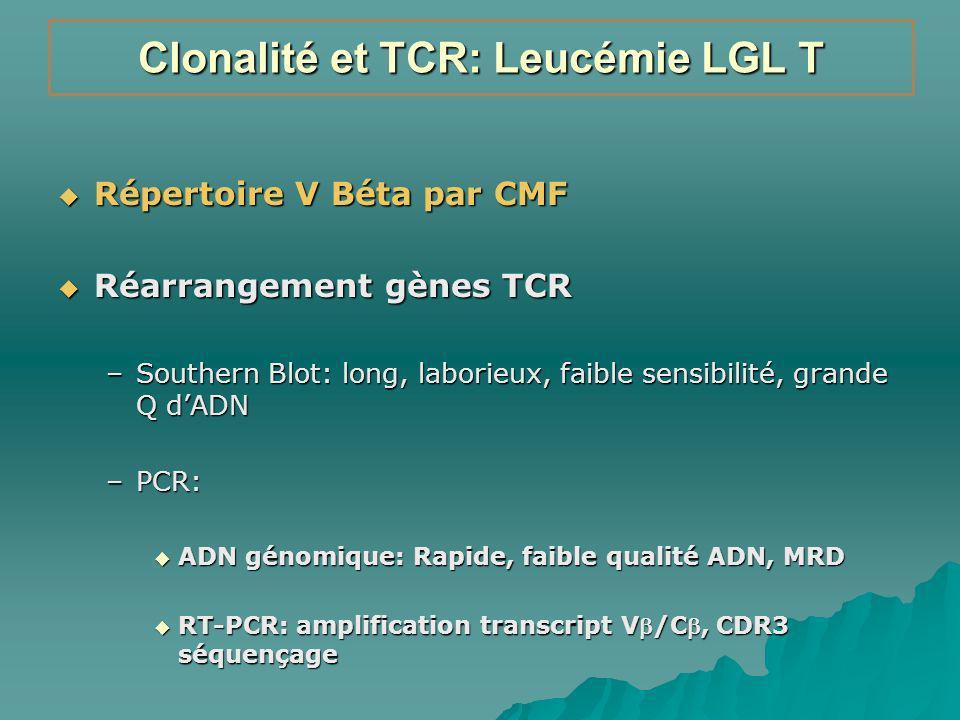Clonalité et TCR: Leucémie LGL T
