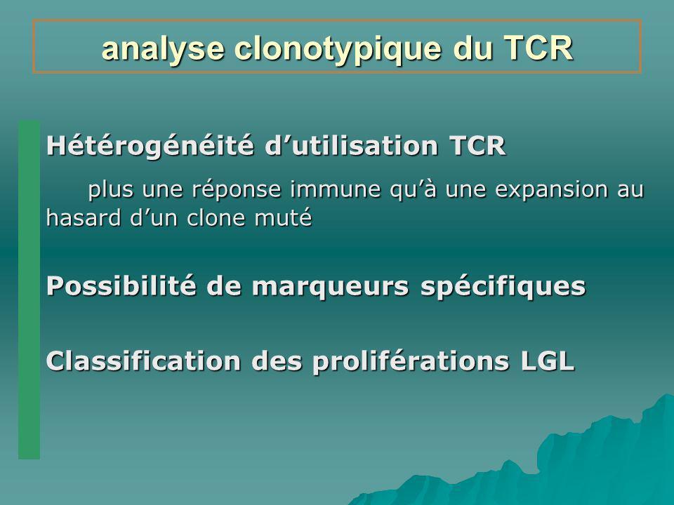 analyse clonotypique du TCR