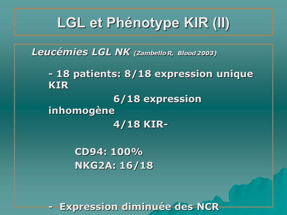 LGL et Phénotype KIR (II)