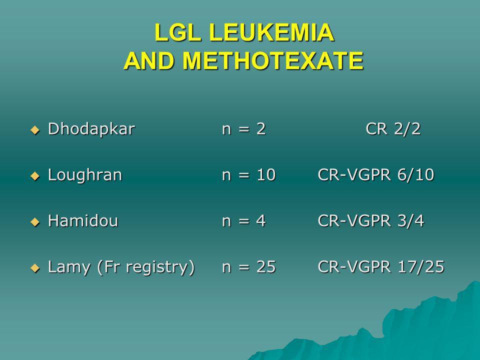 LGL LEUKEMIA AND METHOTEXATE