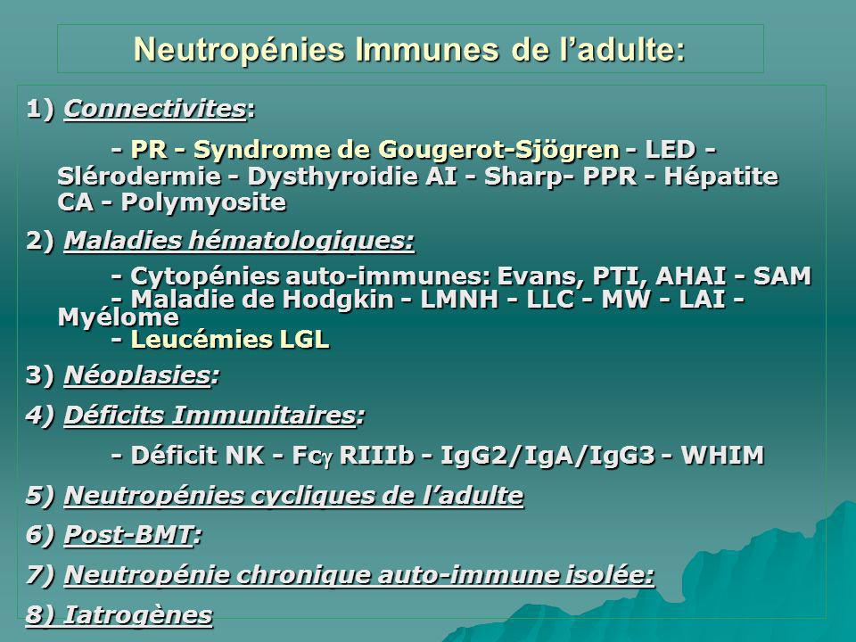 Neutropénies Immunes de l'adulte: