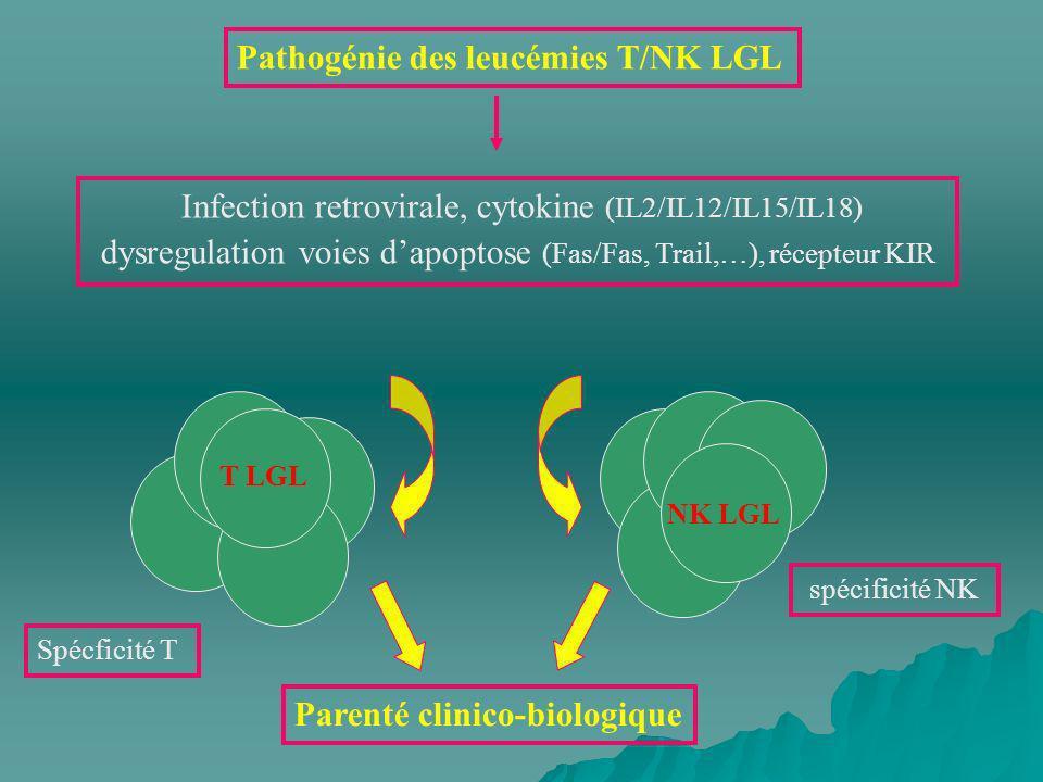 Pathogénie des leucémies T/NK LGL