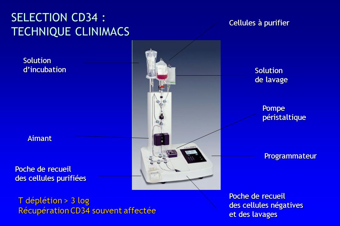 SELECTION CD34 : TECHNIQUE CLINIMACS