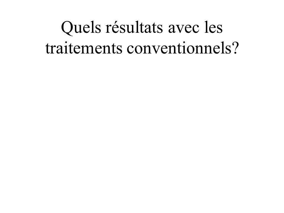 Quels résultats avec les traitements conventionnels