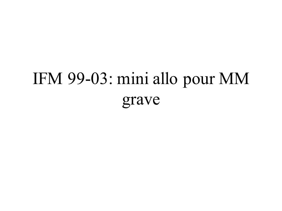 IFM 99-03: mini allo pour MM grave