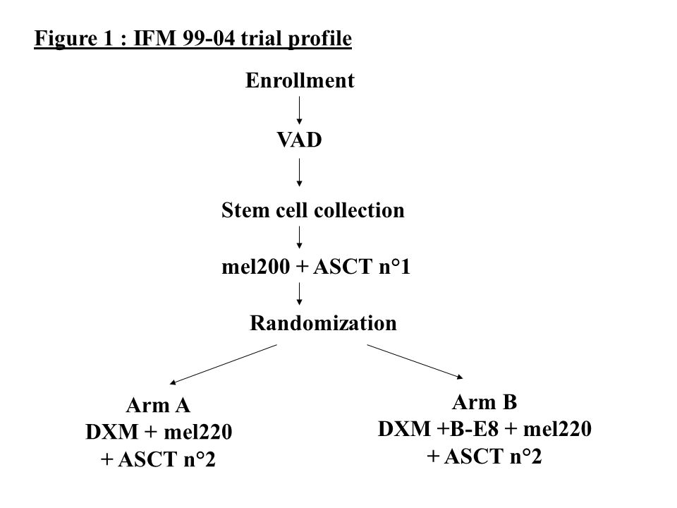 Figure 1 : IFM 99-04 trial profile