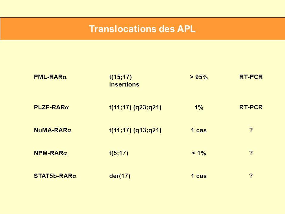 Translocations des APL