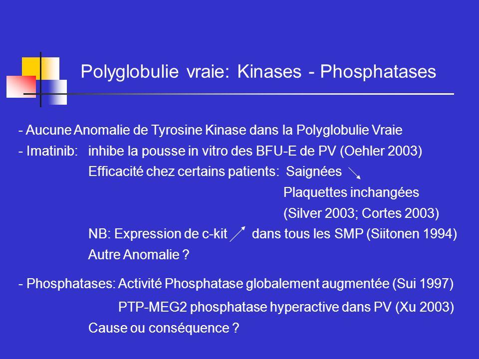 Polyglobulie vraie: Kinases - Phosphatases