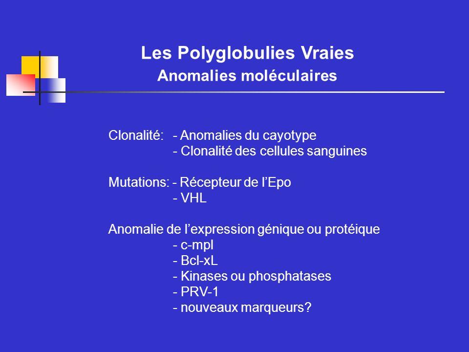Les Polyglobulies Vraies Anomalies moléculaires