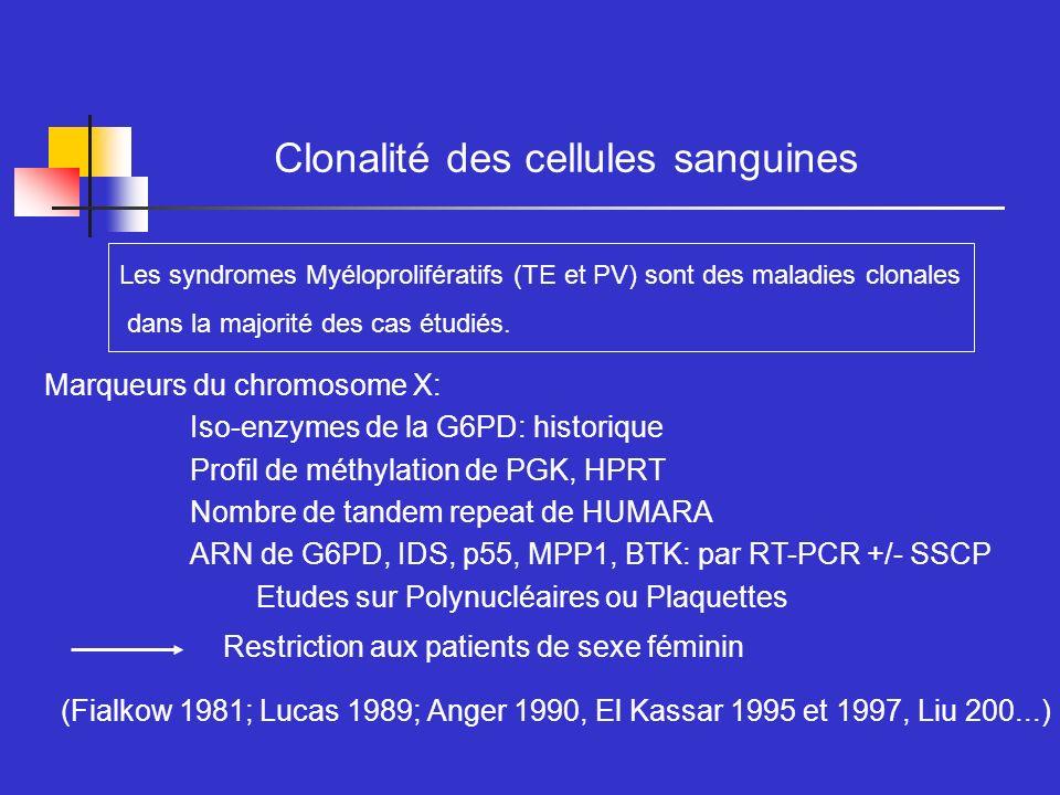 Clonalité des cellules sanguines