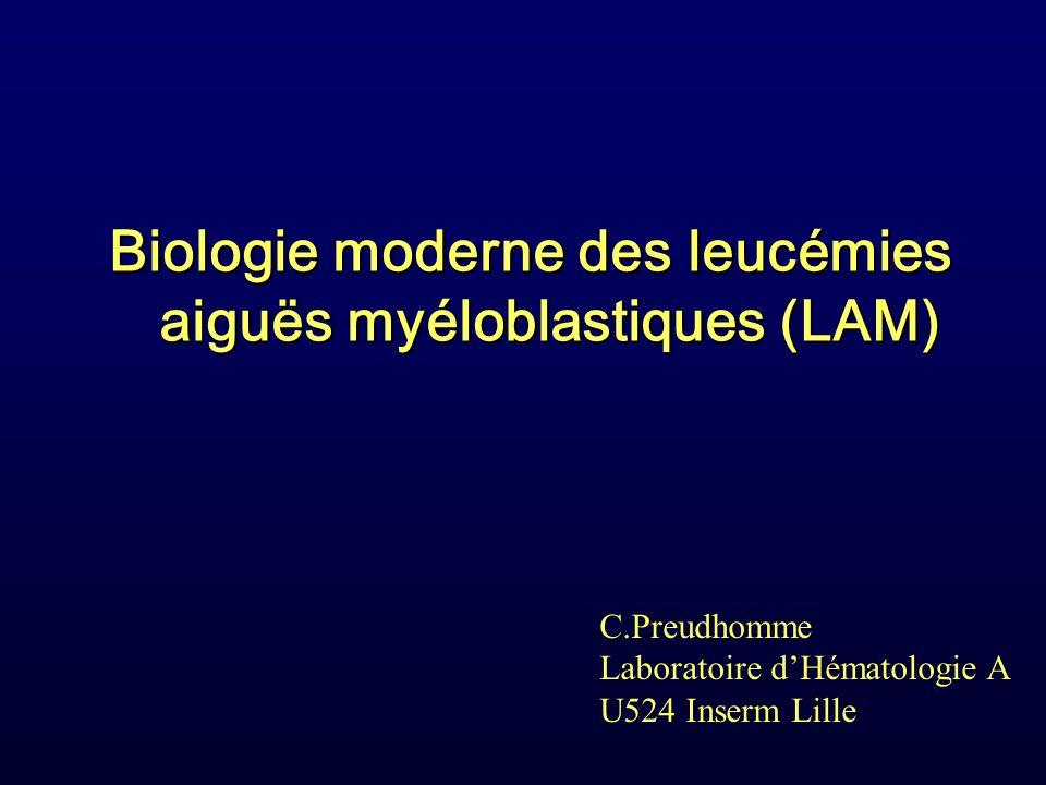 Biologie moderne des leucémies aiguës myéloblastiques (LAM)