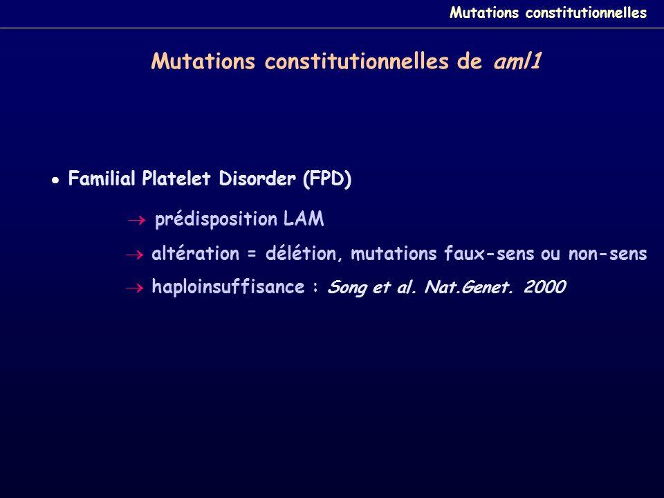 Mutations constitutionnelles de aml1