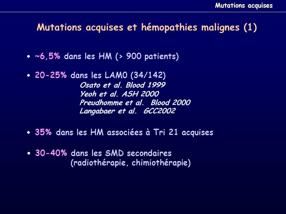 Mutations acquises et hémopathies malignes (1)