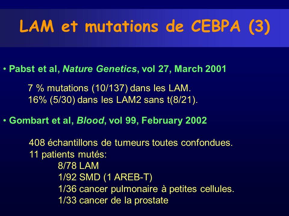 LAM et mutations de CEBPA (3)