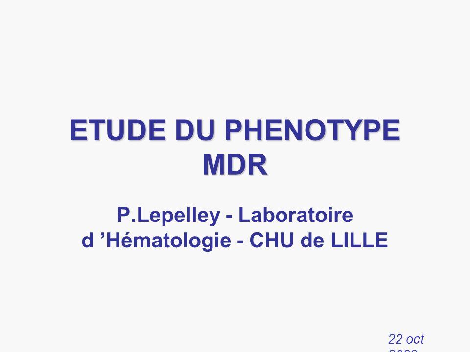 P.Lepelley - Laboratoire d 'Hématologie - CHU de LILLE