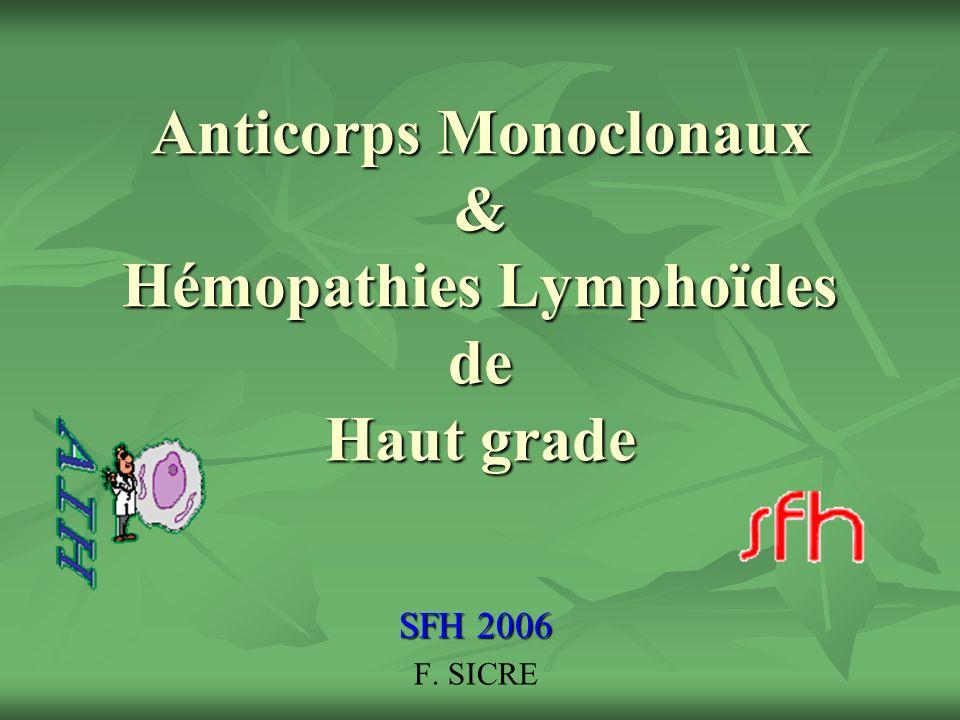 Anticorps Monoclonaux & Hémopathies Lymphoïdes de Haut grade