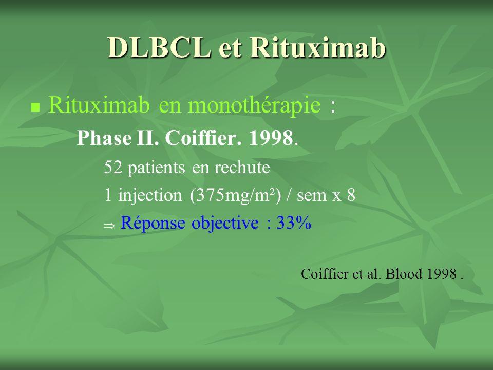 DLBCL et Rituximab Rituximab en monothérapie :