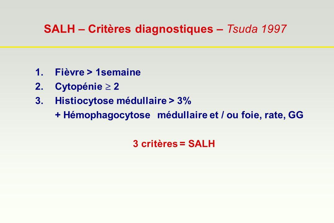 SALH – Critères diagnostiques – Tsuda 1997