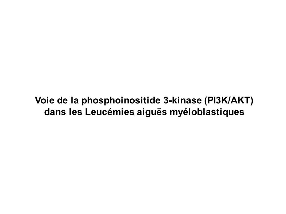 Voie de la phosphoinositide 3-kinase (PI3K/AKT)