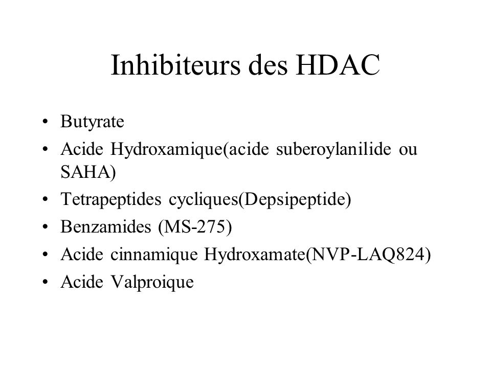 Inhibiteurs des HDAC Butyrate