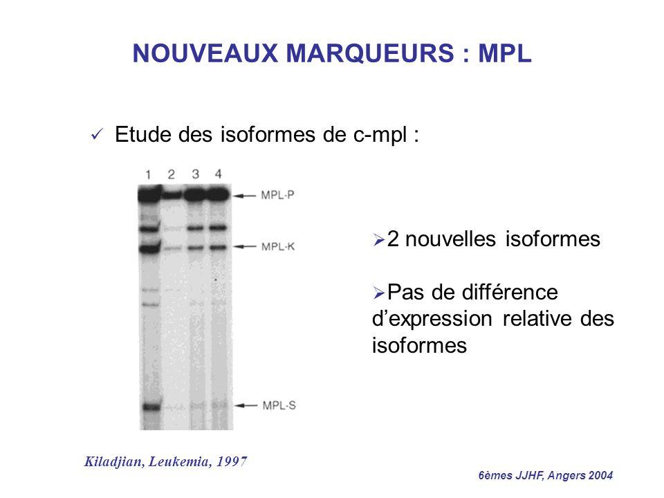 NOUVEAUX MARQUEURS : MPL