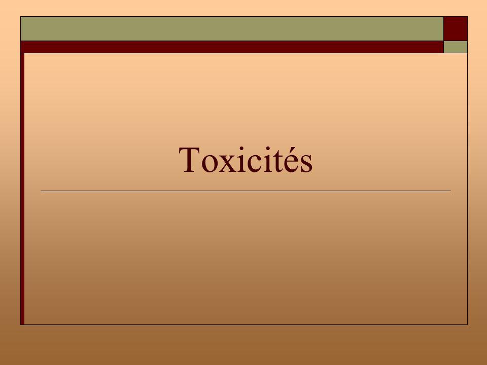 Toxicités