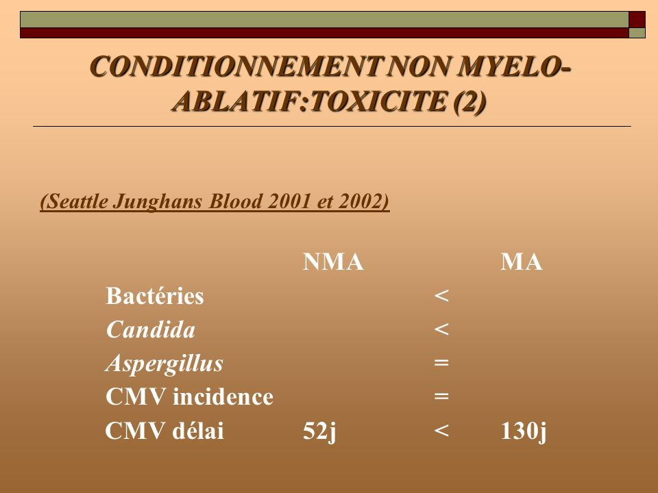 CONDITIONNEMENT NON MYELO-ABLATIF:TOXICITE (2)
