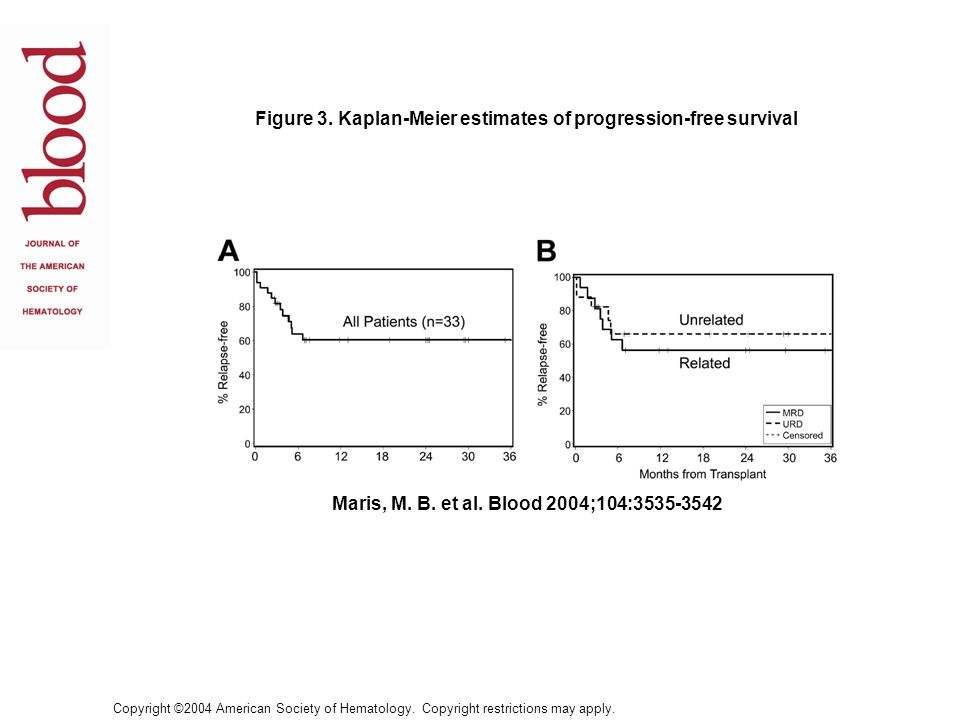 Figure 3. Kaplan-Meier estimates of progression-free survival