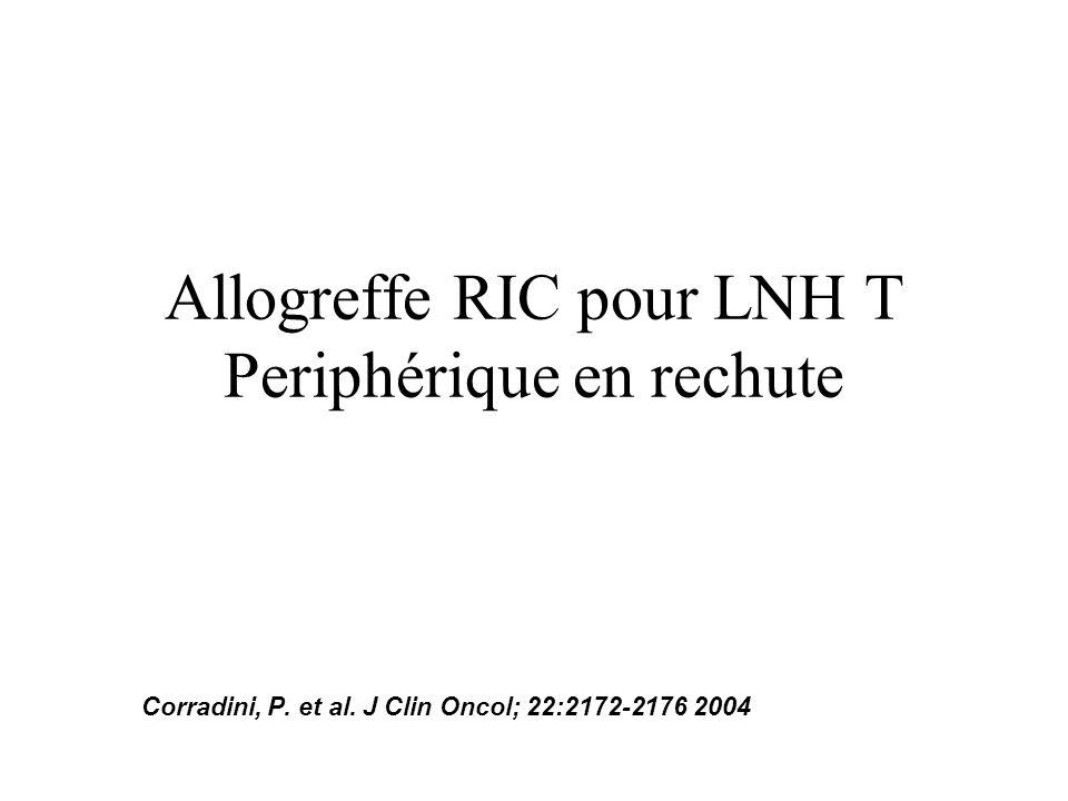 Allogreffe RIC pour LNH T Periphérique en rechute