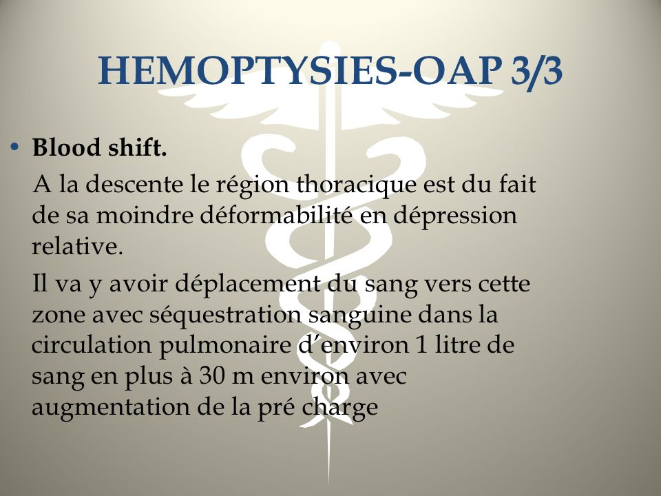 HEMOPTYSIES-OAP 3/3 Blood shift.
