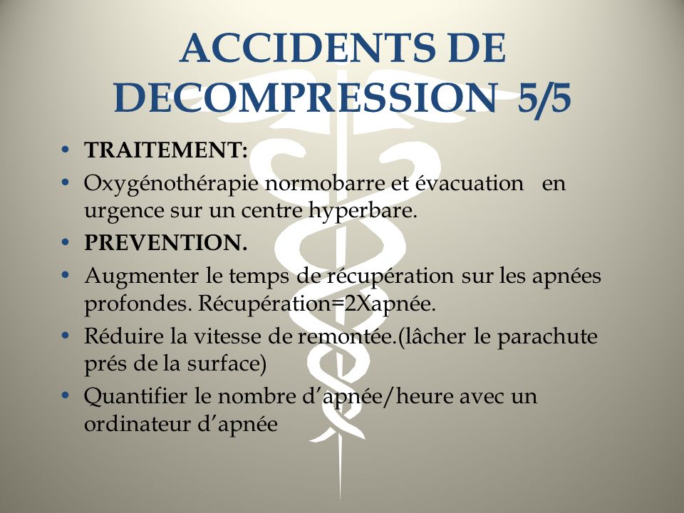 ACCIDENTS DE DECOMPRESSION 5/5
