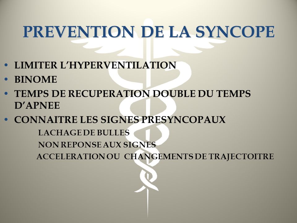 PREVENTION DE LA SYNCOPE