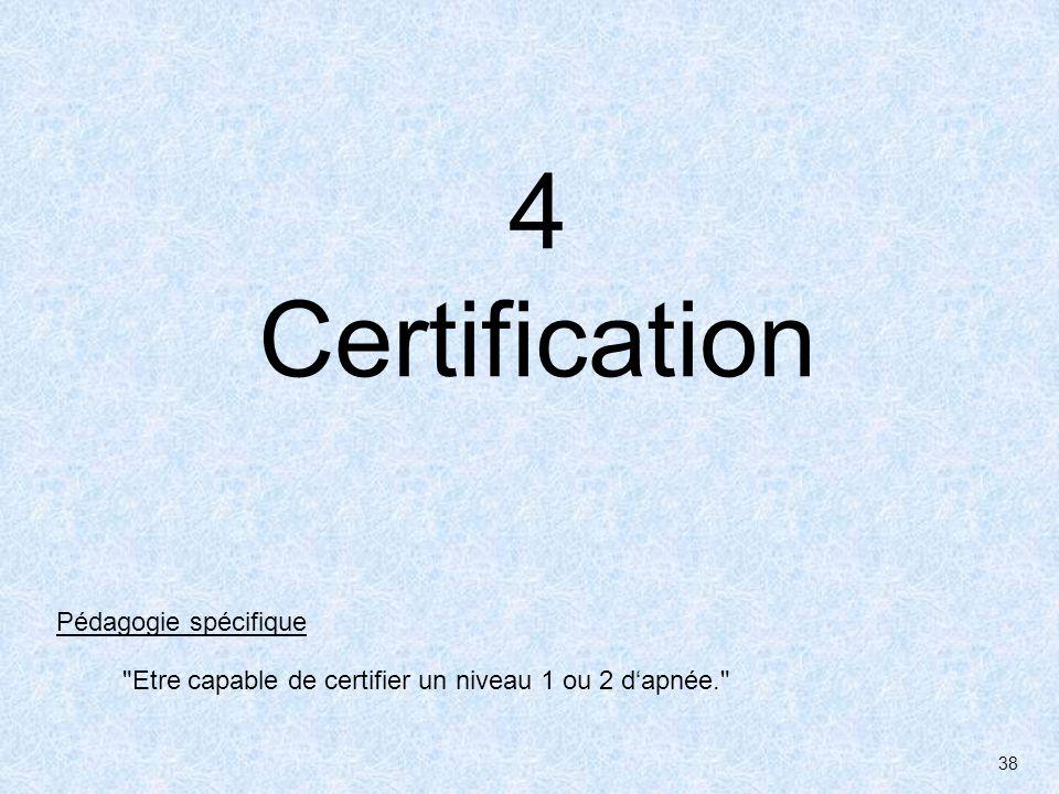 4 Certification Pédagogie spécifique